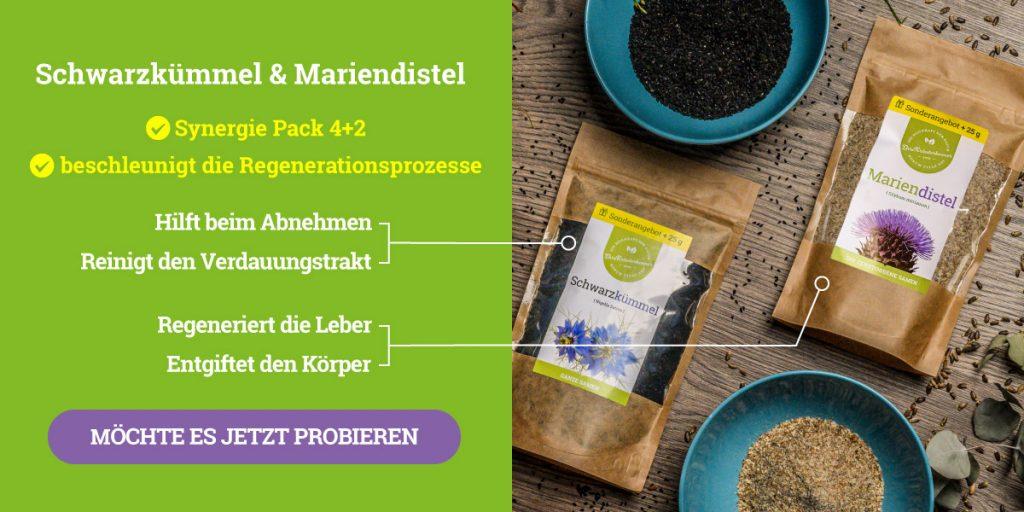 Schwarzkümmel und Mariendistel Synergie-Pack